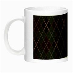 Plaid pattern Night Luminous Mugs
