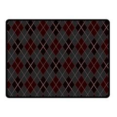 Plaid pattern Fleece Blanket (Small)