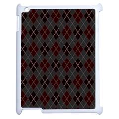 Plaid Pattern Apple Ipad 2 Case (white)