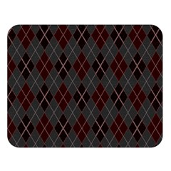 Plaid Pattern Double Sided Flano Blanket (large)
