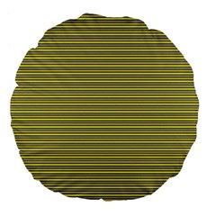 Lines pattern Large 18  Premium Flano Round Cushions