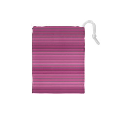 Lines pattern Drawstring Pouches (Small)