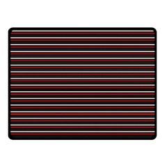 Lines pattern Fleece Blanket (Small)