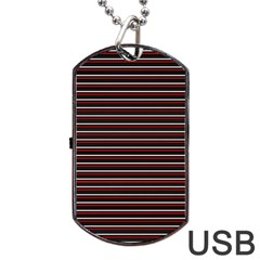 Lines pattern Dog Tag USB Flash (Two Sides)