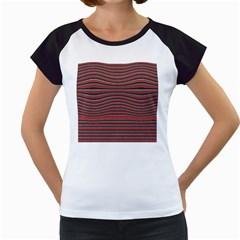 Lines pattern Women s Cap Sleeve T