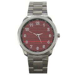 Lines pattern Sport Metal Watch
