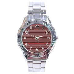 Lines pattern Stainless Steel Analogue Watch