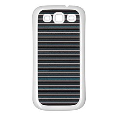 Lines pattern Samsung Galaxy S3 Back Case (White)