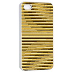 Lines pattern Apple iPhone 4/4s Seamless Case (White)