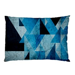 Plane And Solid Geometry Charming Plaid Triangle Blue Black Pillow Case