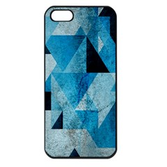 Plane And Solid Geometry Charming Plaid Triangle Blue Black Apple iPhone 5 Seamless Case (Black)