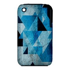 Plane And Solid Geometry Charming Plaid Triangle Blue Black iPhone 3S/3GS