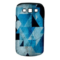 Plane And Solid Geometry Charming Plaid Triangle Blue Black Samsung Galaxy S III Classic Hardshell Case (PC+Silicone)