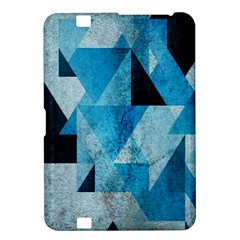 Plane And Solid Geometry Charming Plaid Triangle Blue Black Kindle Fire HD 8.9