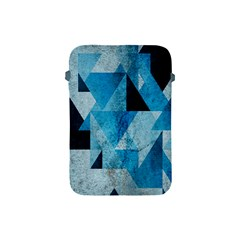 Plane And Solid Geometry Charming Plaid Triangle Blue Black Apple iPad Mini Protective Soft Cases
