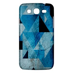 Plane And Solid Geometry Charming Plaid Triangle Blue Black Samsung Galaxy Mega 5.8 I9152 Hardshell Case