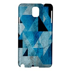 Plane And Solid Geometry Charming Plaid Triangle Blue Black Samsung Galaxy Note 3 N9005 Hardshell Case