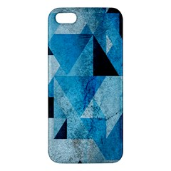 Plane And Solid Geometry Charming Plaid Triangle Blue Black Iphone 5s/ Se Premium Hardshell Case