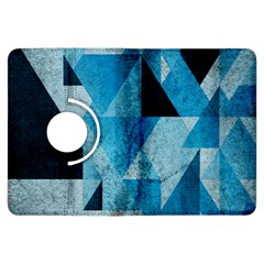 Plane And Solid Geometry Charming Plaid Triangle Blue Black Kindle Fire HDX Flip 360 Case