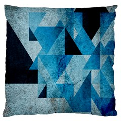 Plane And Solid Geometry Charming Plaid Triangle Blue Black Standard Flano Cushion Case (one Side)