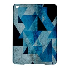 Plane And Solid Geometry Charming Plaid Triangle Blue Black iPad Air 2 Hardshell Cases