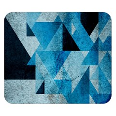 Plane And Solid Geometry Charming Plaid Triangle Blue Black Double Sided Flano Blanket (Small)