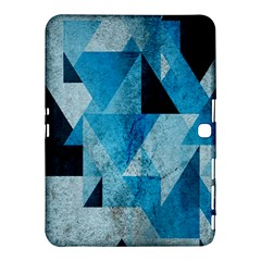 Plane And Solid Geometry Charming Plaid Triangle Blue Black Samsung Galaxy Tab 4 (10.1 ) Hardshell Case