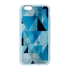 Plane And Solid Geometry Charming Plaid Triangle Blue Black Apple Seamless iPhone 6/6S Case (Color)