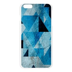 Plane And Solid Geometry Charming Plaid Triangle Blue Black Apple Seamless iPhone 6 Plus/6S Plus Case (Transparent)