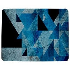 Plane And Solid Geometry Charming Plaid Triangle Blue Black Jigsaw Puzzle Photo Stand (Rectangular)