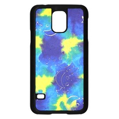 Mulberry Paper Gift Moon Star Samsung Galaxy S5 Case (Black)