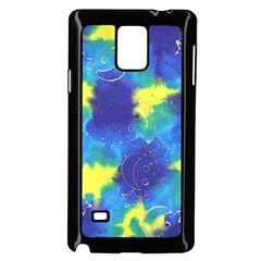 Mulberry Paper Gift Moon Star Samsung Galaxy Note 4 Case (Black)