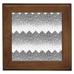 Original Plaid Chevron Wave Framed Tiles