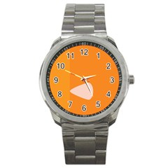 Screen Shot Circle Animations Orange White Line Color Sport Metal Watch