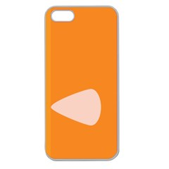 Screen Shot Circle Animations Orange White Line Color Apple Seamless iPhone 5 Case (Clear)