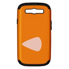 Screen Shot Circle Animations Orange White Line Color Samsung Galaxy S III Hardshell Case (PC+Silicone)