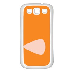 Screen Shot Circle Animations Orange White Line Color Samsung Galaxy S3 Back Case (White)