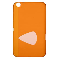 Screen Shot Circle Animations Orange White Line Color Samsung Galaxy Tab 3 (8 ) T3100 Hardshell Case