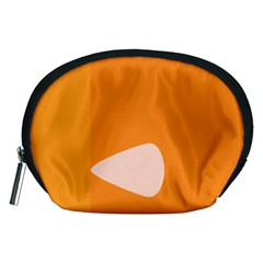 Screen Shot Circle Animations Orange White Line Color Accessory Pouches (Medium)