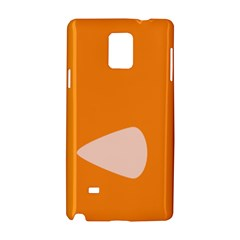 Screen Shot Circle Animations Orange White Line Color Samsung Galaxy Note 4 Hardshell Case
