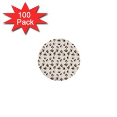 Autumn Leaves Motif Pattern 1  Mini Buttons (100 pack)
