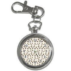 Autumn Leaves Motif Pattern Key Chain Watches