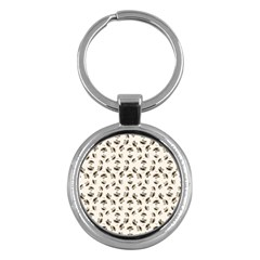 Autumn Leaves Motif Pattern Key Chains (Round)