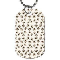 Autumn Leaves Motif Pattern Dog Tag (One Side)