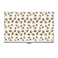 Autumn Leaves Motif Pattern Business Card Holders