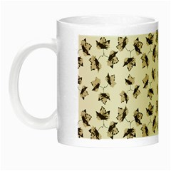 Autumn Leaves Motif Pattern Night Luminous Mugs
