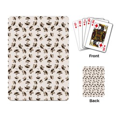 Autumn Leaves Motif Pattern Playing Card