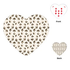 Autumn Leaves Motif Pattern Playing Cards (Heart)