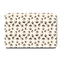 Autumn Leaves Motif Pattern Small Doormat