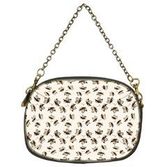 Autumn Leaves Motif Pattern Chain Purses (Two Sides)